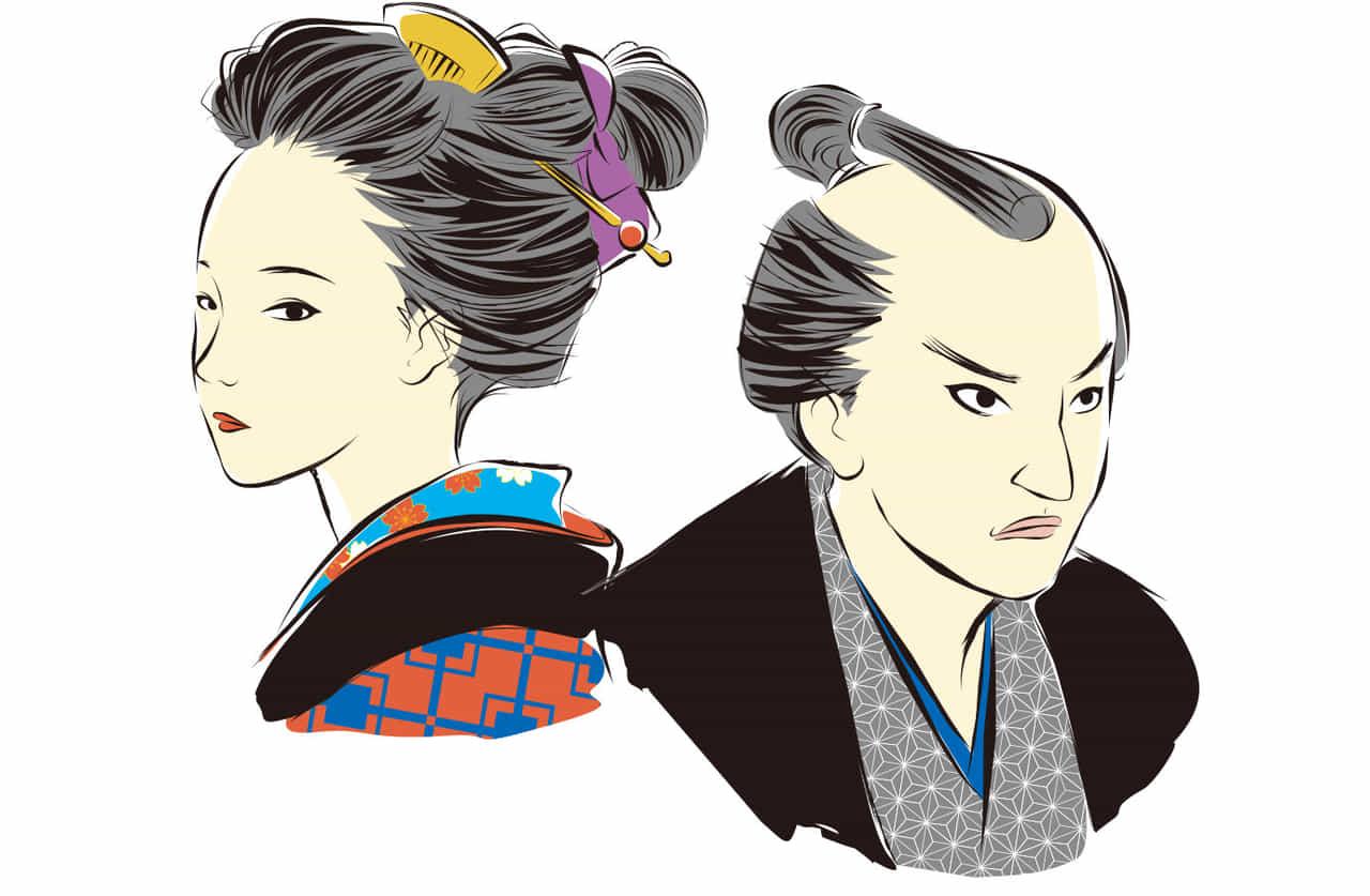 日本の江戸時代の男女