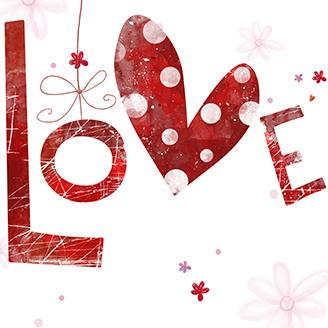 LOVEのカリグラフィー